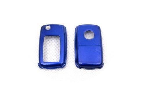Жесткий Пластик БЕСКЛЮЧЕВОЙ дистанционный ключ защитный кожух(глянцевый металлический синий) для Фольксваген MK4/MK5
