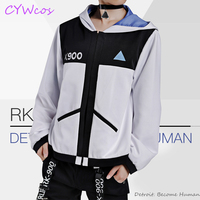 Detroit: Become Human Connor RK800 and RK900 Cosplay Costume Daily Suits Halloween Jacket Uniforms Clothing Coat Sweatshirt