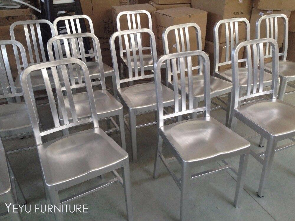 Fashion Loft Design Metal Aluminum Navy Chair, Modern Design Aluminum  Dining Chair, Outdoor Metal Aluminum Chair, Cafe Chair 1PC In Dining Chairs  From ...