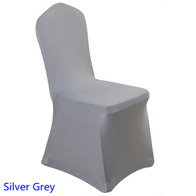 spandex chair cover silver colour flat front lycra stretch banquet chair cover for wedding decoration wholesale