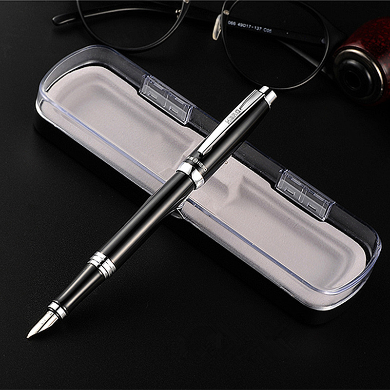 Exquisite gift box fountain pen HERO ink pens Business birthday gift for friend free engraving Company LOGO and blessings