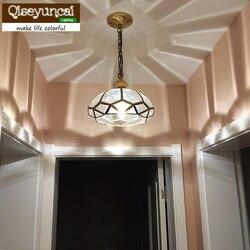 Qiseyuncai 2018 nowy amerykański miedziany żyrandol nowoczesny minimalistyczny kreatywny balkon przejściach i korytarzach badania ganek oświetlenie restauracji|Wiszące lampki|   -