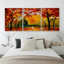 Laeacco 3 Panel Watercolor Graffiti Wall Artwork Forest Posters and Prints Canvas Paintings Calligraphy Home Living Room Decor
