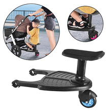 Baby Stroller Accessories Baby Stroller Organizer Auxiliary Pedal Second Child Trailer Twins Kids Standing Plate Sitting Seat