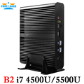 Partaker B2 Windows Mini pc i7 Barebone HTPC  Fanless Computer Broadwell 5Gen Core i7 5550U with 300M Wifi i7 4200U