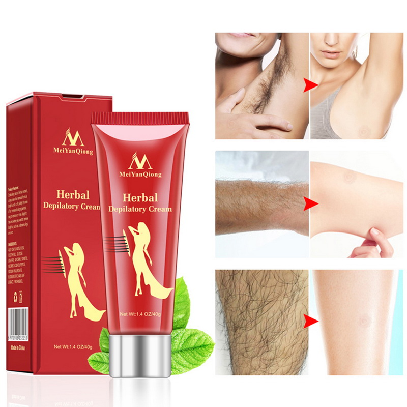 MeiYanQiong Painless Hair Removal Cream Remove Permanent Hair Depilatory Cream Smooth Skin Body Paste Hair Removal Natural New(China)