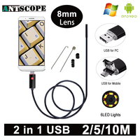 Armgroup HD USB Endoscope Camera USB Android Endoscopic Camera Black 2m 5m 10m Android PC Boroscope