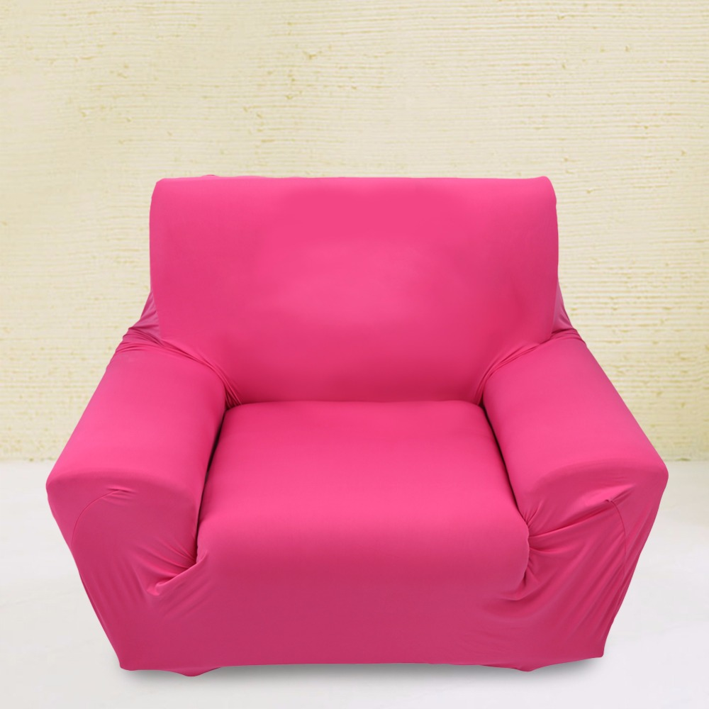 Universal 7 Colors Polyester Dust Proof Soft Sofa Cover Stretch Single Seat Cushion Slipcover Chair Cover