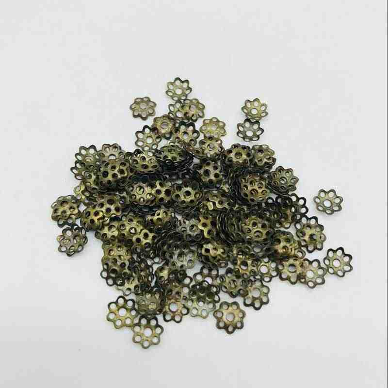 Flower Beads 100pcs 6mm Jewelry Findings Hat Isolation Jewelry DIY Jewelry Accessories for Necklace Accessories Wholesale