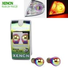 XENCN S25 PY21W BAU15s 12V 21W Super Rainbow Series indicadores delanteros, luces de marcha atrás, luces antiniebla traseras, intermitentes traseros nuevo 2X