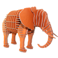 3d Puzzle Big Elephant Toys Kids Adults Craft Paper Model DIY Gifts Cardboard Zoo African Animal Papercraft Art Decoration Home
