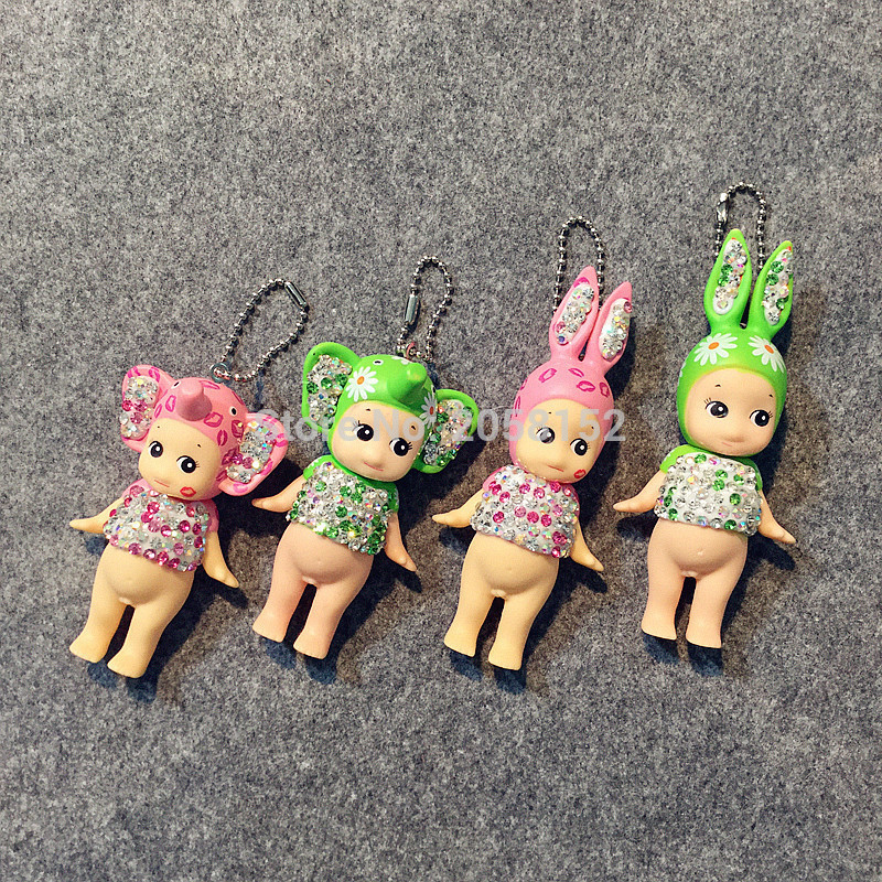 1pcs Sonny Angel PVC Figure Toy Dolls key/mobile phone pendant doll Sonny Angel Artist Collection Tropical Marine Kids Toys