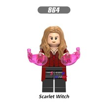 1PCS model building blocks action superheroes Scarlet Witch Infinity War learn Dolls diy toys for children gift(China)