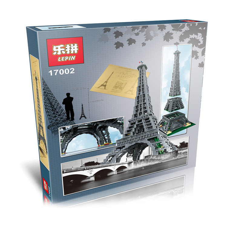 New LEPIN 17002 3478pcs The Eiffel Tower Model Building Kits Minifigures Brick Toys Compatible 10181 Give