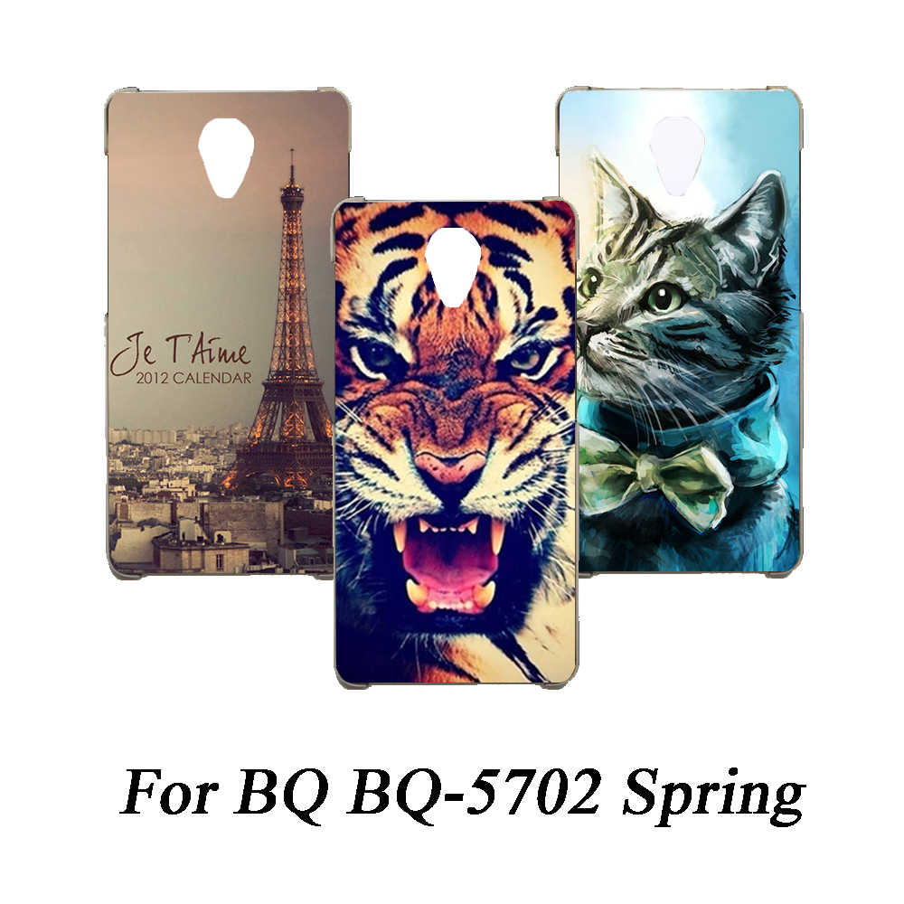 Soft Tpu Phone Case For BQ BQ-5702 Spring Cases Silicone Painted Wolf Rose Eiffel Fundas Sheer For BQ BQ-5702 Spring Back Cover