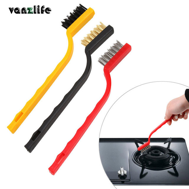 Vanzlife Gas Stove Cleaning Wire Brush Kitchen Tools Metal Fiber Strong Decontamination 3pcs A Lot