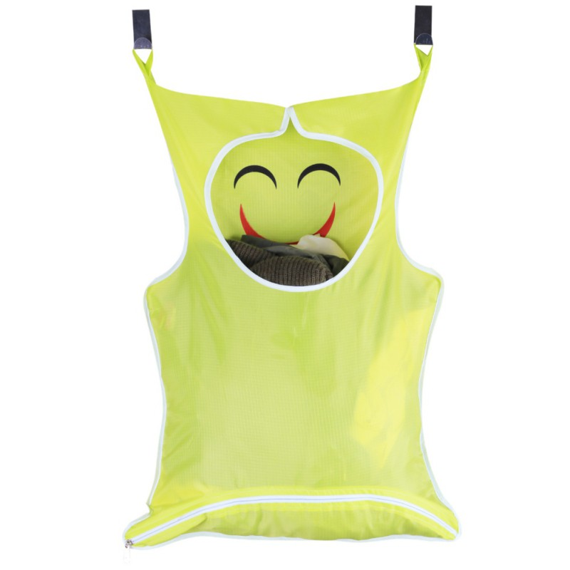Smiley Laundry Bag Extra Large Wall Mounted Laundry Organizer Stainless Steel And Suction Cup Hook Laundry Storage New