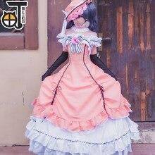 Negro diácono Cos negro Butler Ciel Phantomhive Cosplay vestido princesa  ropa de fiesta de Halloween conjunto completo con sombr. 19ed6b02d795