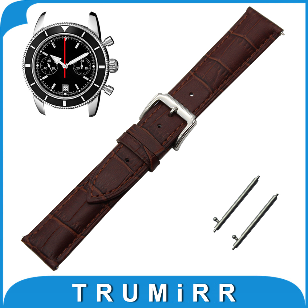 18mm 20mm 22mm First Layer Genuine Leather Watch Band Quick Release Strap for Breitling Wrist Belt Bracelet Black Brown 18mm first layer genuine leather watch band quick release strap for asus zenwatch 2 women wi502q wrist belt bracelet black brown