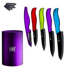 """De alta clase de frutas verduras cuchillo de cerámica 3 """"4"""" 5 """"6"""" sharp cerámica juegos de cuchillos de la cocina de moda cuchillos + peeler + cuchillo de pie"""