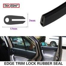 236″ 600cm 17x7mm Black Edge Seal RV Lock Trim Rubber pillar Car Truck Noise Control Window Door Boot Protector Guard Strip #60