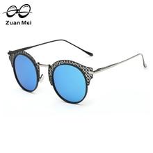 Zuan Mei New Fashion Alloy Frame Retro Sunglasses for Women Polarized Round Mirror Sun Glass UV400 Fashion Driving Eyewear ZM077