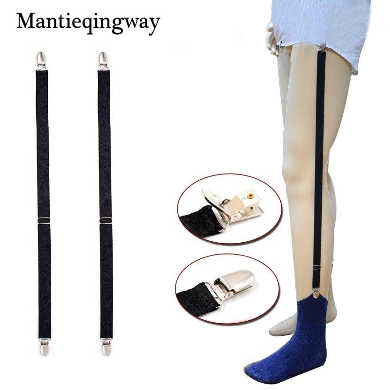 Forceful Mantieqingway Mens Socks Stay Garters Adjustable Elastic Holder Braces Solid Color Anti-slip Sock Holders Suspensorio Leg Braces Men's Suspenders