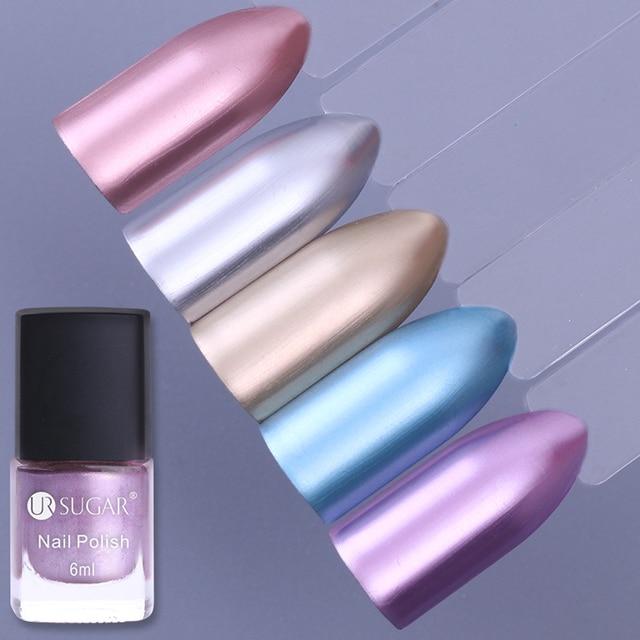 1 botella 6 ml metálico espejo efecto nail laca Rosa oro plata ...