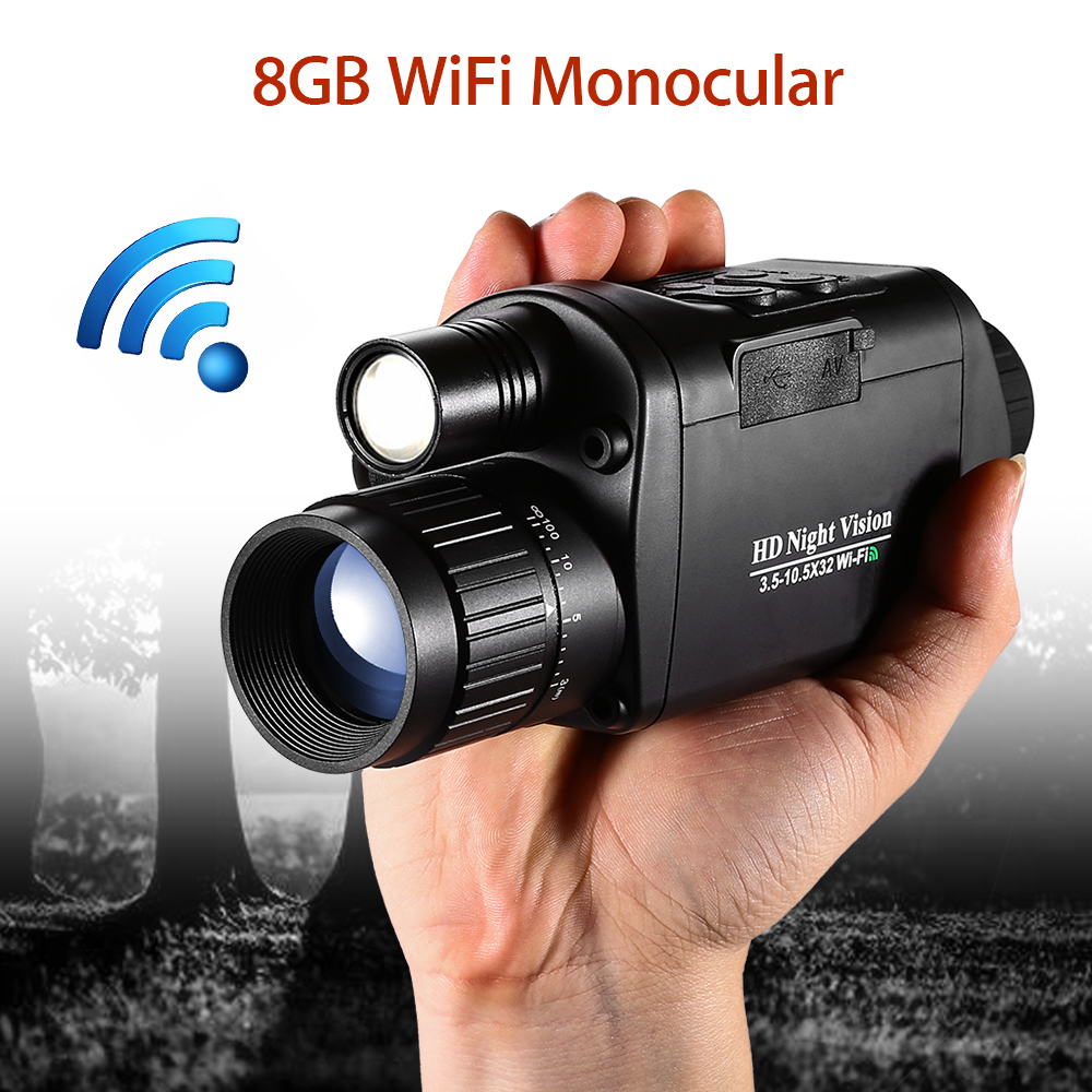 BOBLOV 5X32 Digital Infrared Night Vision Goggle Monocular 200m Range Video DVR Image for Hunting Camera Device-in Night Visions from Sports & Entertainment
