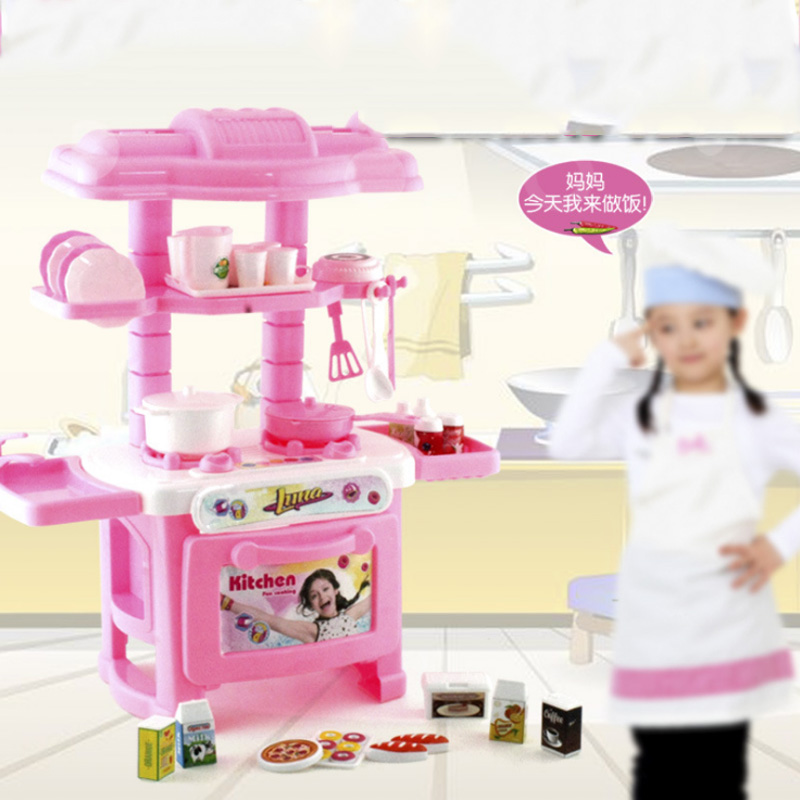 1 Set Kids Play House Toys Girl Tableware Sets Baby Toys Kitchen Cooking Simulation Model Kitchen Pretend Play 6 Types Avaliable