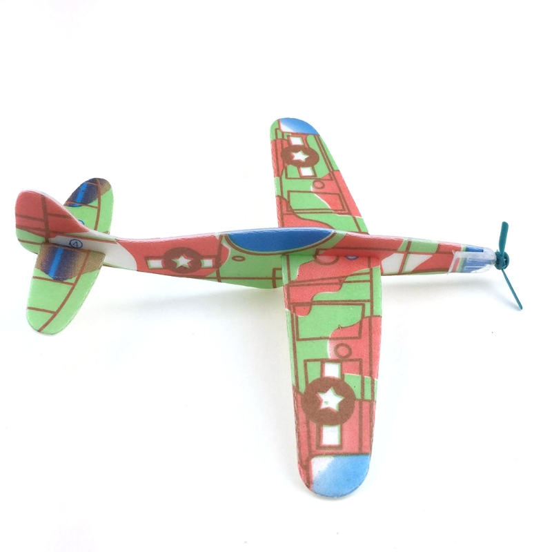 Educational Mini Foam Handmade Throwing Flying Airplane Glider DIY Assembly Model Kid Toy