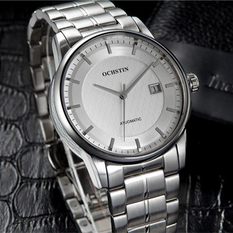 OCHSTIN montre hommes automatique montres-bracelets en acier montres de Sport automatique Date 2016 horloge hommes Relogio Masculino montre d'affaires hommes