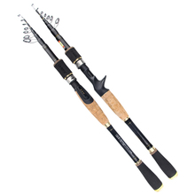 On sale 1.8m 2.1m 2.4m 2.7m M Power Action Carbon Spinning Rod Casting Fishing Rod Telescopic Lure Rod  Portable Rod