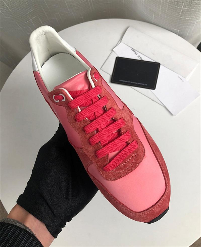 Crin En Rouge Cuir Léopard Chaussures Printemps Couleur Semelles Mélangée Décontractées À Sneakers red Femme Leopard Nouveau Chaussure Compensées Plat Réel xrCthdsQ