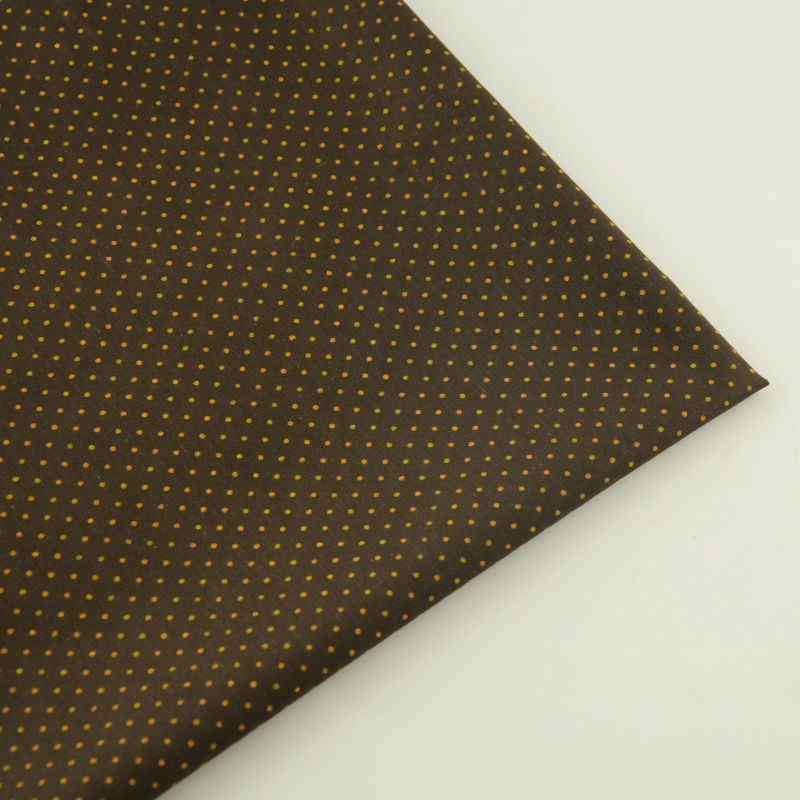 De color marrón oscuro de algodón telas tecido acolchar bedding telasfor diy muñ