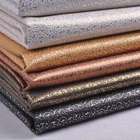 100x135cm Pvc Artificial Leather For Diy Faux Black Leather Fabric Leatherette White Embossed Fabric Glitter Pvc