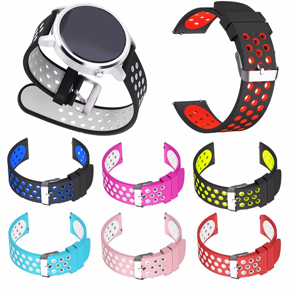 20mm Sport Silicone Bracelet for Huawei Watch 2 Sport Band for Huawei Watch Strap 1st 18mm Wristband Metal Buckle Belt