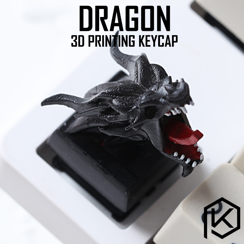 Novelty Shine Through Keycaps 3d Printed Print Printing Pla Dragon Custom Mechanical Keyboards Light Cherry MX Compatible