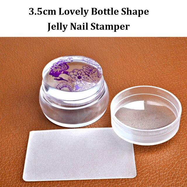 2016 Nieuwe Mooie Ontwerp Matte Nail Art Stamper Schraper met Cap Siliconen Jelly 3.5 cm Nail Stamp Stempelen Gereedschappen