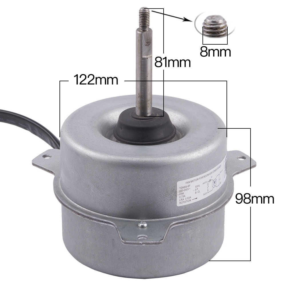 Ac Fan Motor >> Ydk65 6f Electronic Air Conditioner Window Ac Fan Blower Motor Air Conditioning Replace Parts