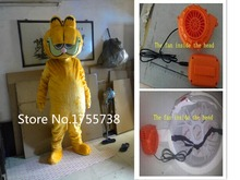 Adult size  Plush Garfield Mascot costume Cartoon character costumes fast  shipping