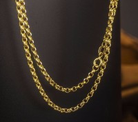 Authentic Solid Yellow Gold Chain Necklace/ Cable Chain Necklace/ 2.11g Hot Sale