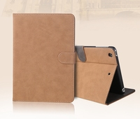 Vintage Solid Case For Ipad Mini 1 2 3 4 Dormancy Faux Leather Cover For Ipad