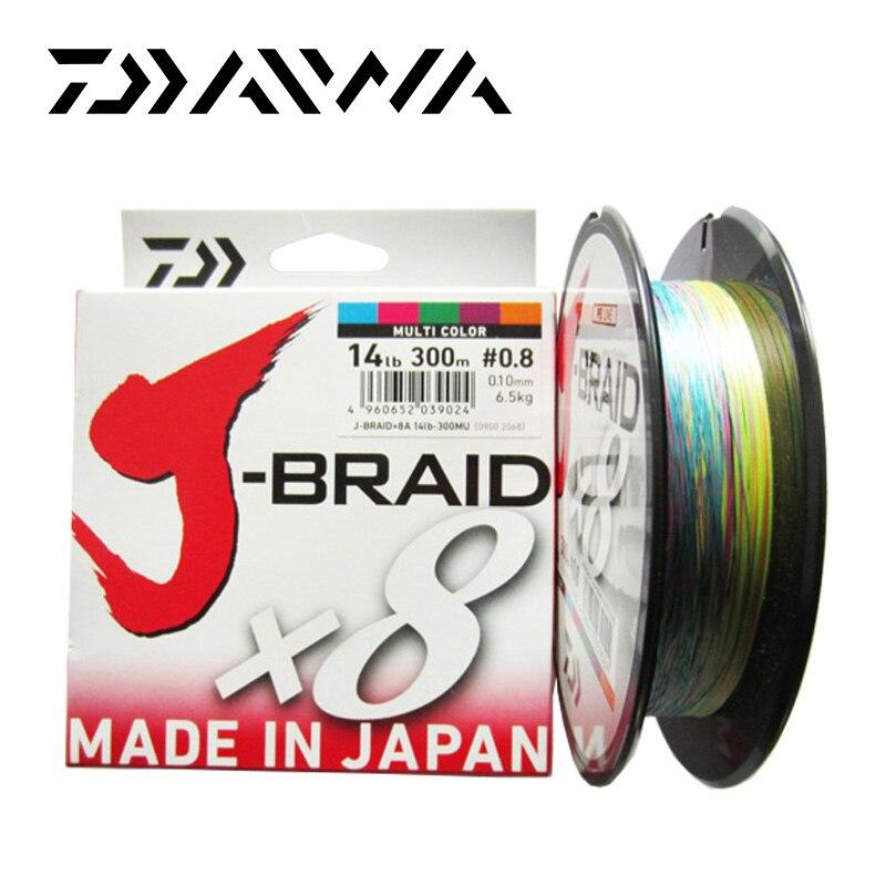 Daiwa J-BRAID 8A 150 mt 100% Original multicolor 8 draht geflecht linie monofilament 14-35lb angelschnur made in japan pesca