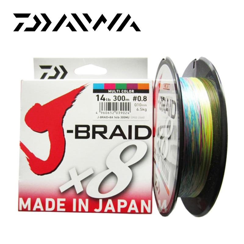 Daiwa J-BRAID 8A 150M 100% Original multicolor 8 wire braid line monofilament 14-35lb fishing line made in japan pesca цена