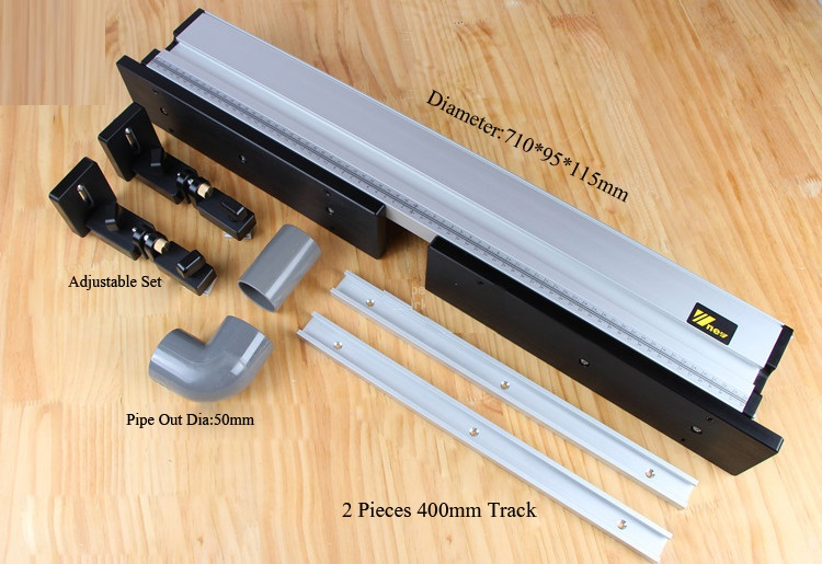 High Quality Heavy Duty Router Fence With Knob Stops Updated With Dust Port Connection DIY Woodworking Tools