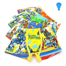 5 pcs/lot breathable cotton boys boxer kids panties children underpants baby briefs toddler underwears cartoon robot 3 to 11 Yrs(China)