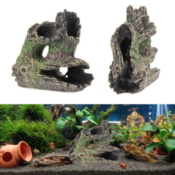 Resin Aquarium Barrel Hollow Trunk Tree