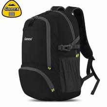 Gonex 30L черный рюкзак повседневное сумка для колледж студент путешествия открытый пеший Туризм сумки легкий складной прочный