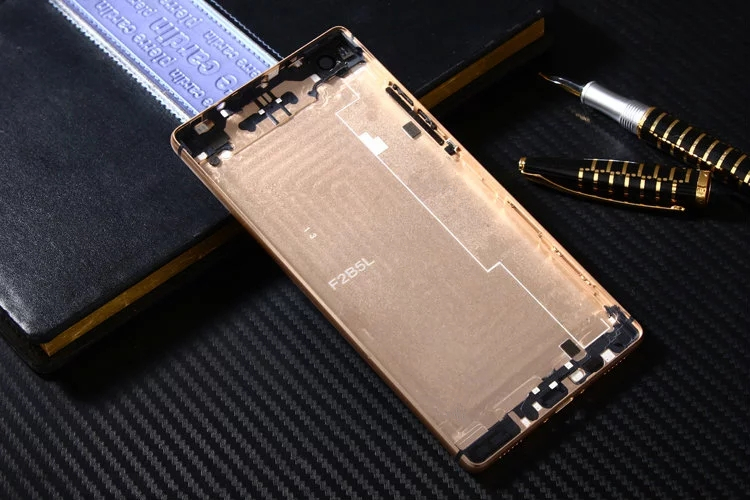 bilder für Huawei P8 Offizielle Original Metall Abdeckung Fall für Huawei Ascend P8 Zurück Battery Cover Gehäuse Ersatzteile